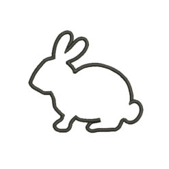 Bunny Silhouette Machine Embroidery Design