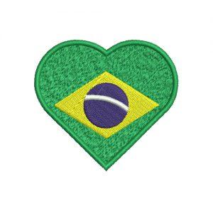 Heart Brazil Flag