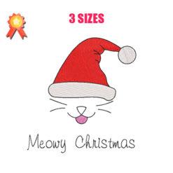 Meowy Christmas Machine Embroidery Design