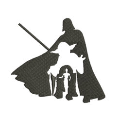 Star Wars Silhouette Machine Embroidery Design