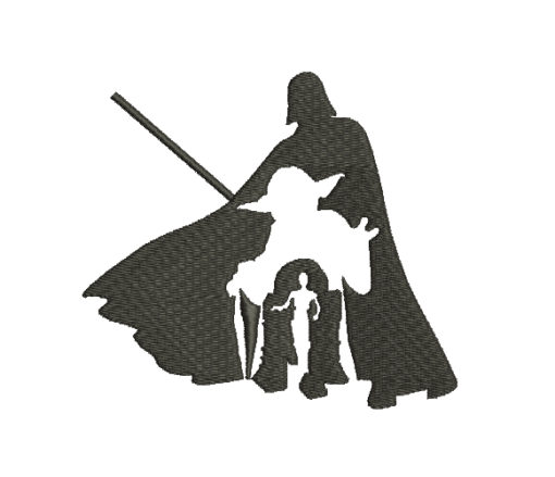 Star Wars Silhouette Machine Embroidery Design