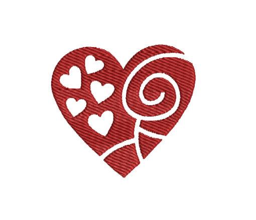 Valentine Heart Machine Embroidery Design