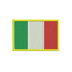 Italian Flag Machine Embroidery Design
