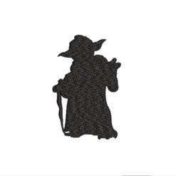 Yoda Silhouette Machine Embroidery Design