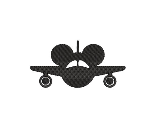 Airplane Mickey Mouse Machine Embroidery Design