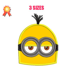 Bob Minions Machine Embroidery Design