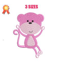 Girl Monkey Machine Embroidery Design