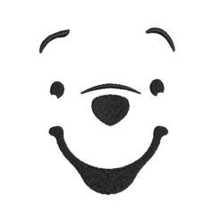 Winnie Pooh Face Machine Embroidery Design