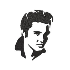 Elvis Face Machine Embroidery Design