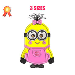 Girl Minion Machine Embroidery Design