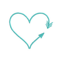 Heart Arrow Machine Embroidery Design