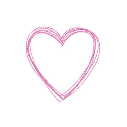 Heart Drawing Machine Embroidery Design