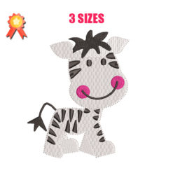 Zebra Baby Machine Embroidery Design