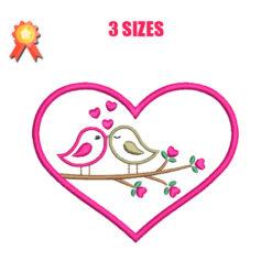 Birds In Love Machine Embroidery Design