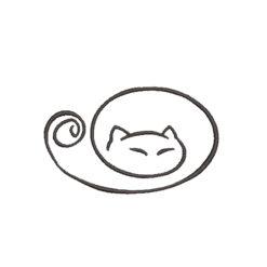 Cat Line Stroker Machine Embroidery Design