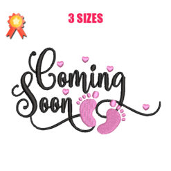 Coming Soon Machine Embroidery Design