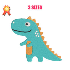 Cute Dinosaur Machine Embroidery Design