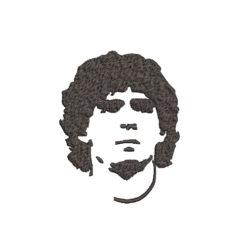 Diego Maradona face Machine Embroidery Design