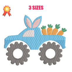 Easter Truck Machine Embroidery Design