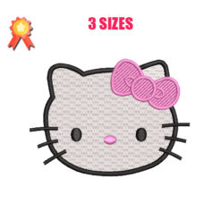 Hello Kitty Face Machine Embroidery Design