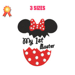 My 1st Easter - Minnie Machine Embroidery Design