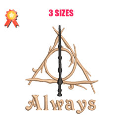 The Deathly Hallows - Always Machine Embroidery Design