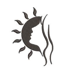 Girl Silhoutte Machine Embroidery Design