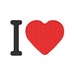I Love Machine Embroidery Design