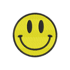 Smiley Face Machine Embroidery Design