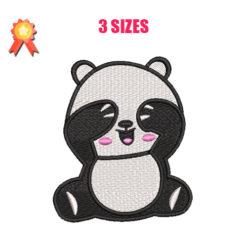 Baby Panda Machine Embroidery Design