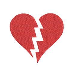 Broken Heart Machine Embroidery Design