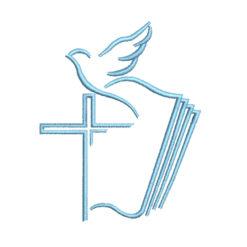 Dove Cross Machine Embroidery Design