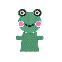 Little Frog Machine Embroidery Design