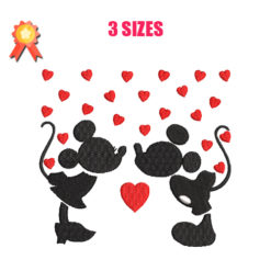 Mickey & Minnie Machine Embroidery Design