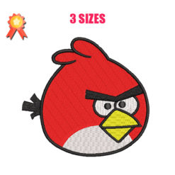 Red - Angry Birds Machine Embroidery Design