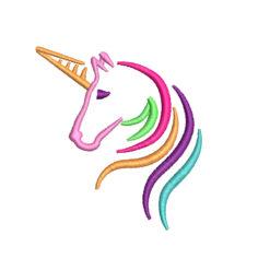Colorful Unicorn Machine Embroidery Design
