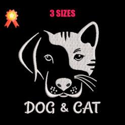 Dog & Cat Machine Embroidery Design