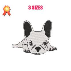 French Bulldog Dog Machine Embroidery Design