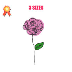 Rose 11 Machine Embroidery Design