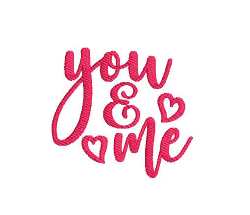 You & Me Machine Embroidery Design