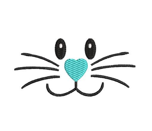 Bunny Face Machine Embroidery Design