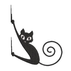 Cat Climbing Machine Embroidery Design