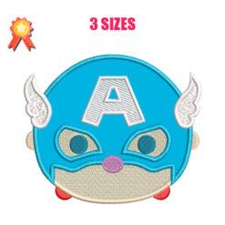 Mini Captain America Machine Embroidery Design