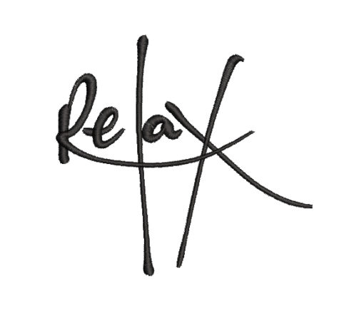 Relax Machine Embroidery Design