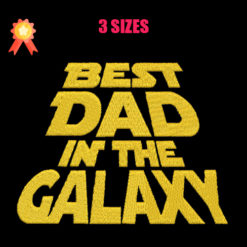 Best Dad In The Galaxy Machine Embroidery Design