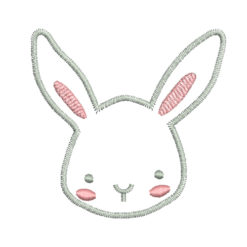 Cute Rabbit Machine Embroidery Design
