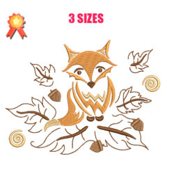 Fox - Fall Machine Embroidery Design