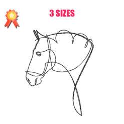 Horses 9 Machine Embroidery Design