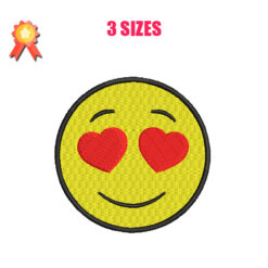 Smiling Face With Heart Machine Embroidery Design