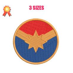 Captain Marvel Machine Embroidery Design